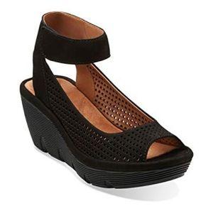 Clarks Clarene Prima Wedge Sandal size 9.5
